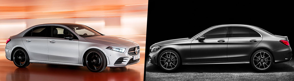 2019 Mercedes-Benz A-Class vs 2019 Mercedes-Benz C-Class