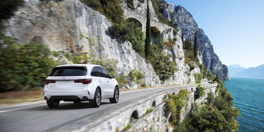 White 2020 Acura MDX A-Spec® on Highway