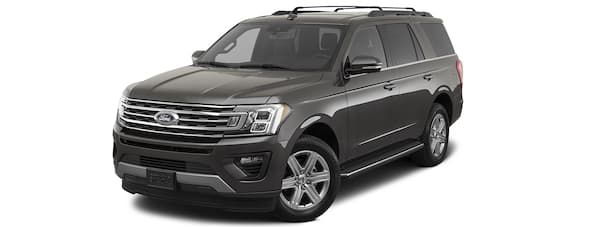 A gray 2020 Ford Expedition is angled left.