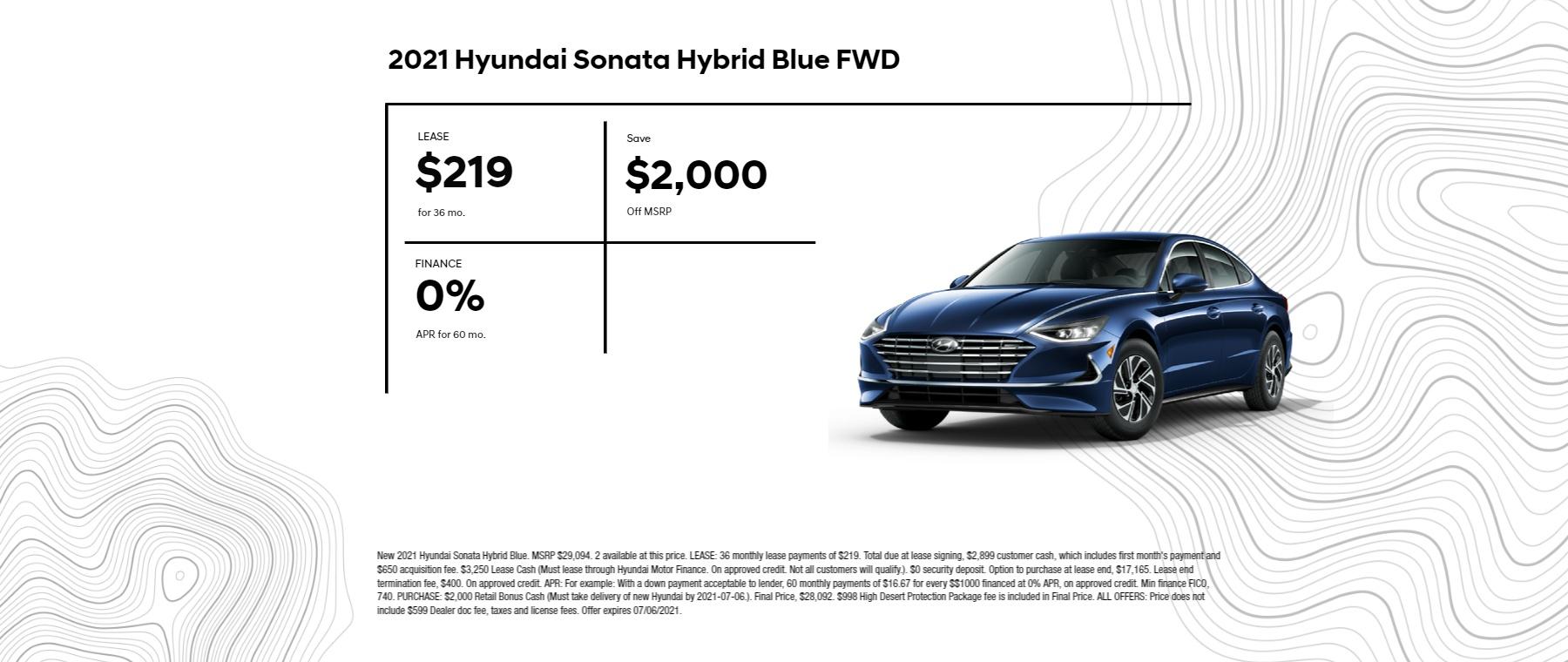 Sonata Hybrid Blue HS