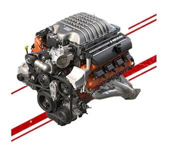 SUPERCHARGED 6.2L HEMI® SRT HELLCAT V8 ENGINE