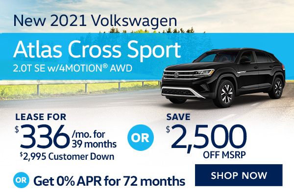 New 2021 Volkswagen Atlas Cross Sport 2.0T SE w/Technology and 4MOTION® AWD