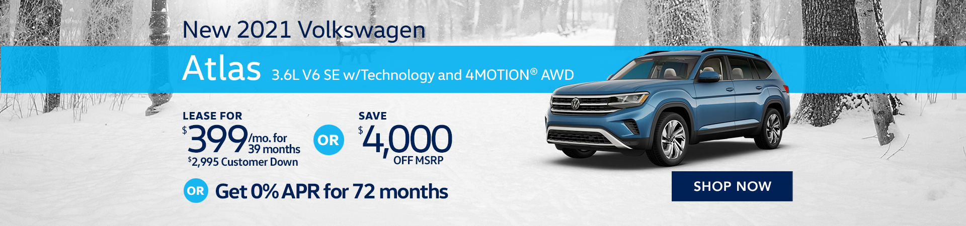 BVW_1920x450_2021 Volkswagen Atlas 3.6L V6 SE w_Technology and 4MOTION® AWD_03_21