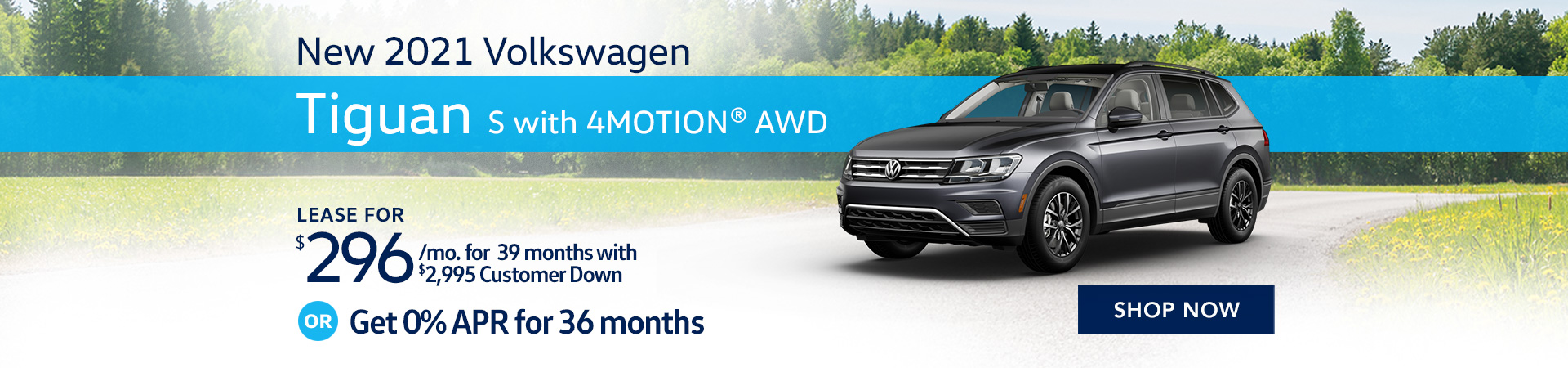 BVW_1920x450_New 2021 Volkswagen Tiguan S with 4MOTION® AWD _07'21