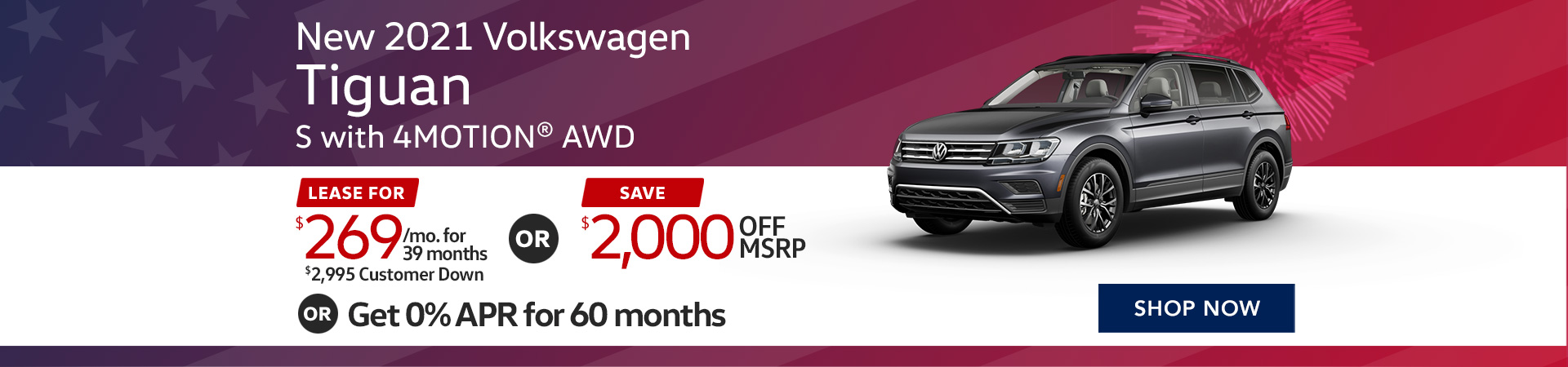 BVW_1920x450_New 2021 Volkswagen Tiguan S with 4MOTION® AWD_02_21