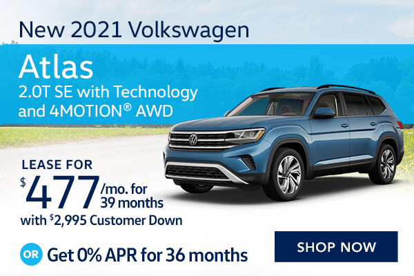 New 2021 Volkswagen Atlas 2.0T SE with Technology and 4MOTION® AWD