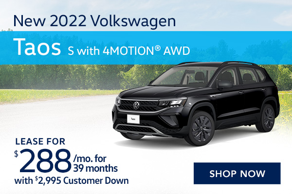 New 2022 Volkswagen Taos S with 4MOTION® AWD
