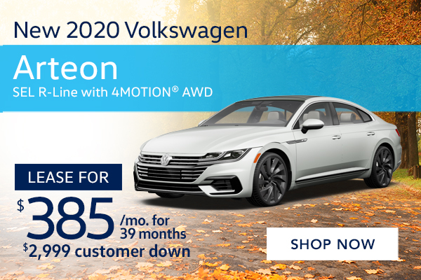 New 2020 Volkswagen Arteon SEL R-Line with 4MOTION® AWD