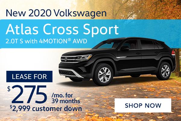 New 2020 Volkswagen Atlas Cross Sport 2.0T S with 4MOTION® AWD