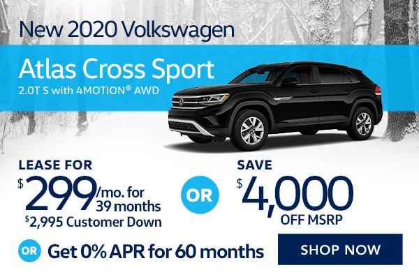 New 2020 Volkswagen Atlas Cross Sport 2.0T S with 4MOTION® AWD