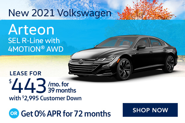 New 2021 Volkswagen Arteon SEL R-Line with 4MOTION® AWD
