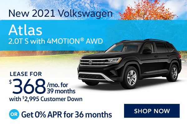 New 2021 Volkswagen Atlas 2.0T S with 4MOTION® AWD