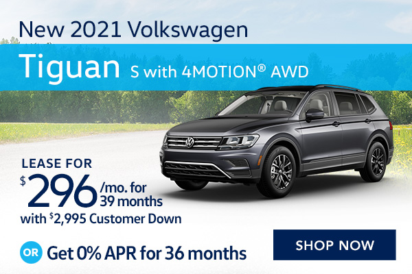 New 2021 Volkswagen Tiguan S with 4MOTION® AWD