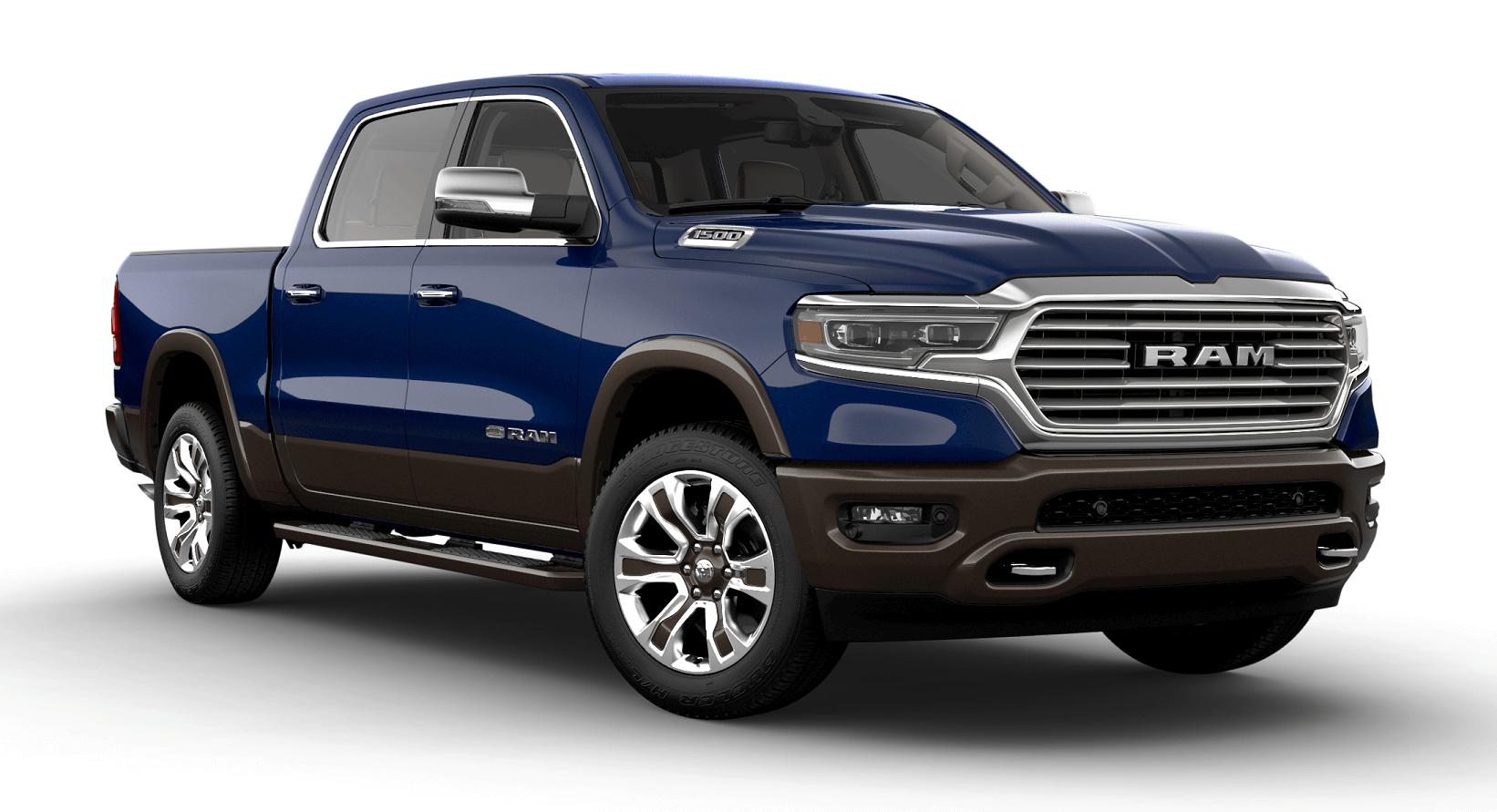 2019 RAM 1500 LARAMIE LONGHORN CREW CAB BOX Patriot Blue Pearl Coat