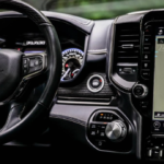 The 2021 RAM 1500 interior and Uconnect® touchscreen