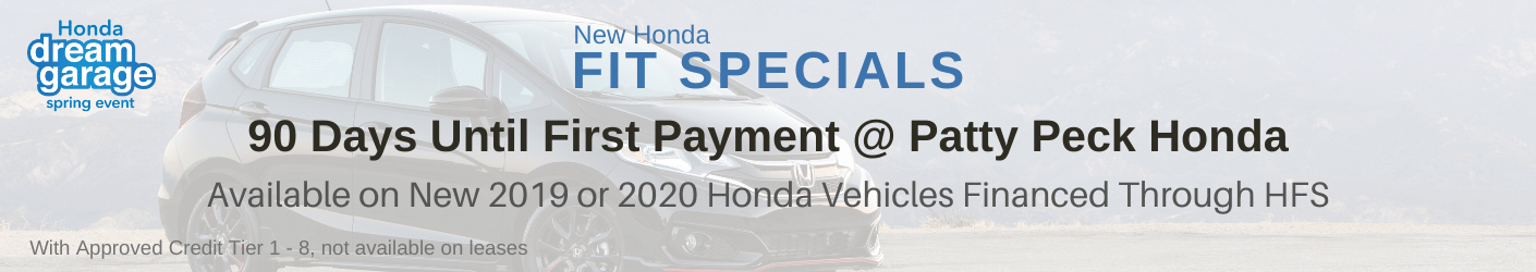Honda Fit Sale banner