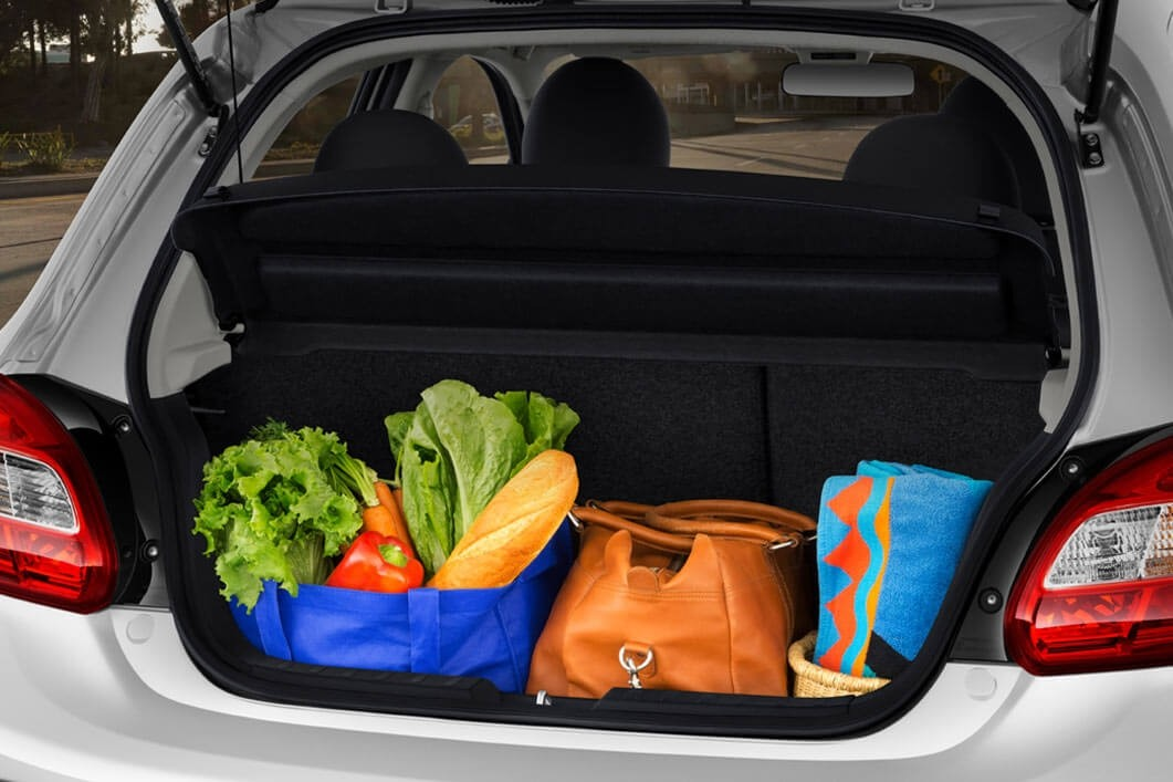 2018 Mitsubishi Mirage cargo space