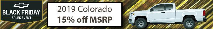 2019 colorado fifteen percent below msrp