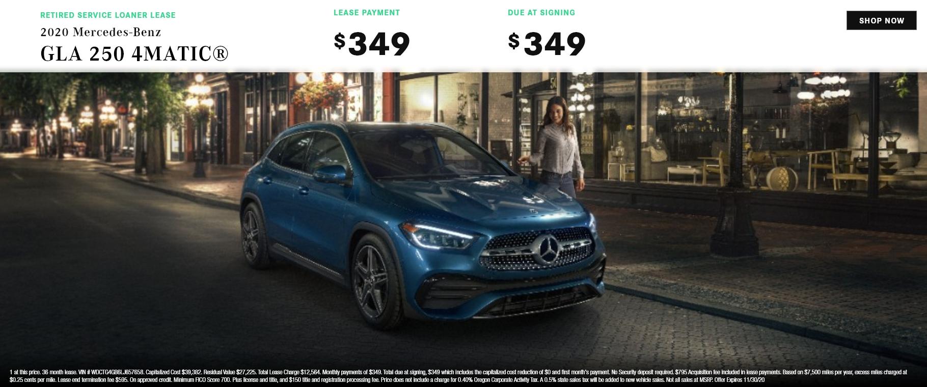 2020 Mercedes-Benz GLA 250 4MATIC®