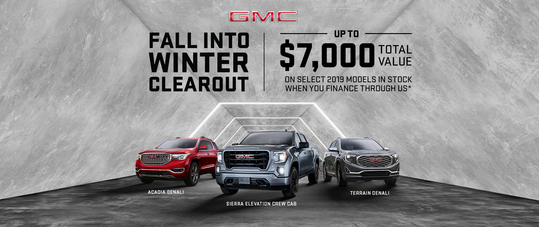 2019 GMC Multi Line - Fall Into Winter Clearout