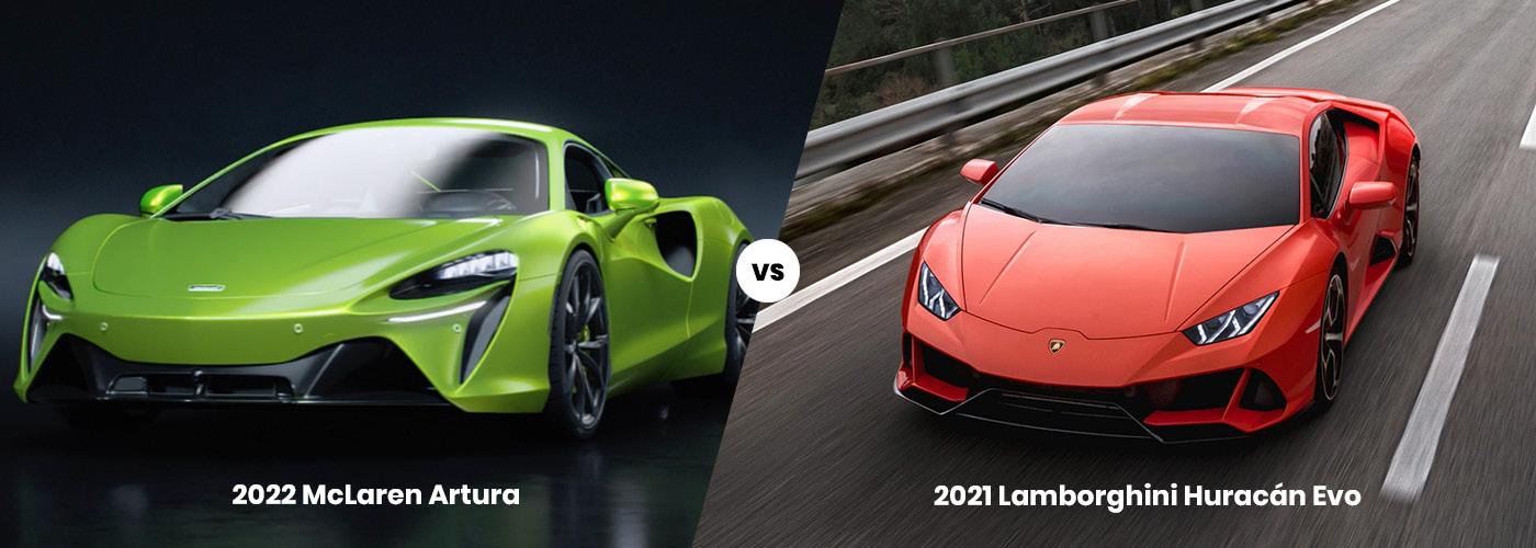 2022 McLaren Artura vs. 2021 Lamborghini Huracán Evo