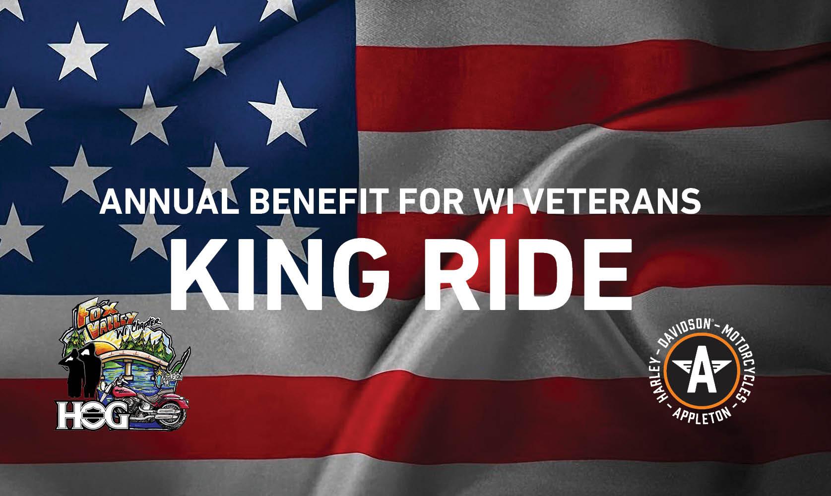 King Ride American Flag Banner