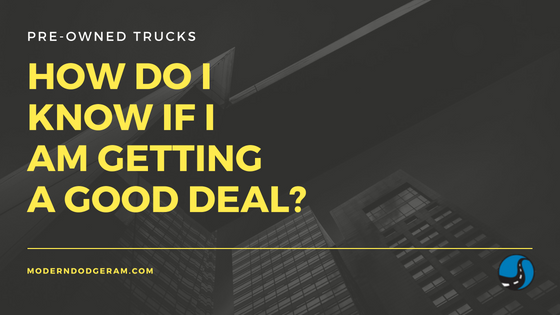 how do i know if i am getting a deal on a truck or van