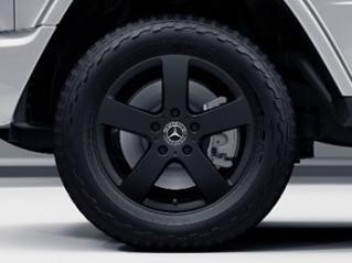 """RK7 - 18"""" 5-Spoke Wheels, Matte Black"""