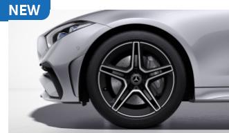 "RRF - 19"" AMG Twin 5-Spoke Wheels w/ Black Accents"