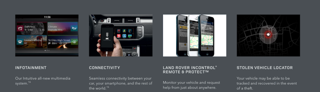 Services on the Land Rover InControl® App.